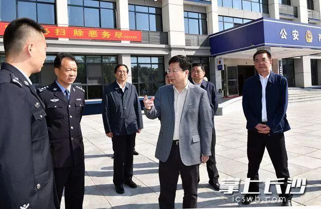 胡衡华在望城区调研指导扫黑除恶专项斗争工作