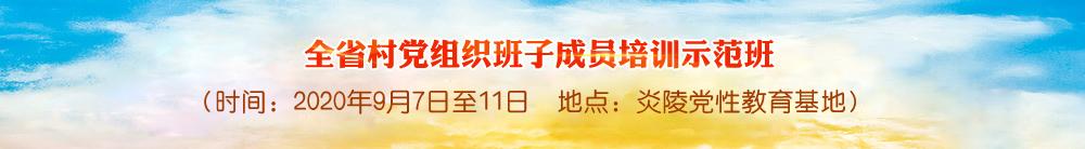 全省村党组织班子成员培训示范班