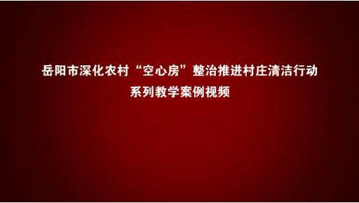 """岳阳市深化农村""""空心房""""整治推进村庄清洁行动集中攻坚系列案例教学视频"""