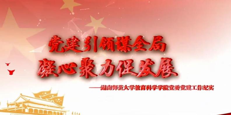 建统领聚合力,红色引擎助发展——湖南师范大学教育科学学院党委