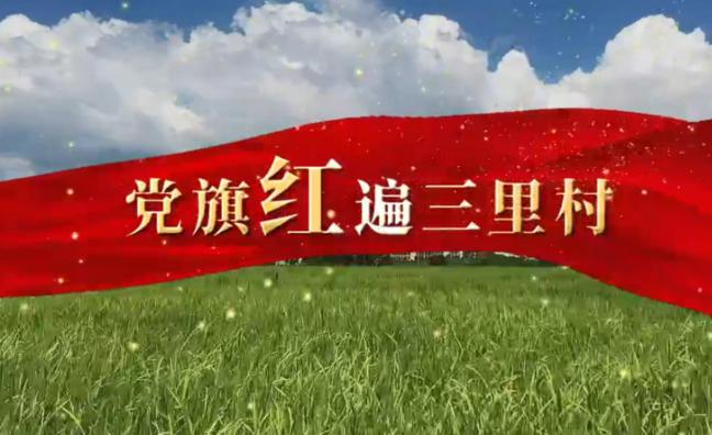 党旗红遍三里村